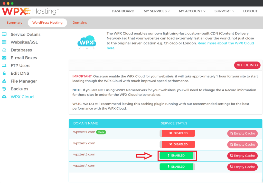 Enable WPX Cloud on WPX Hosting